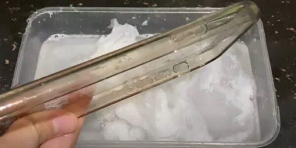 clean transparent phone case